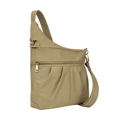 Travelon Anti-Theft Signature 3 Compartment Crossbody Bag