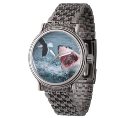 Discovery Expedition Mens Gunmetal Shark Bracelet Watch