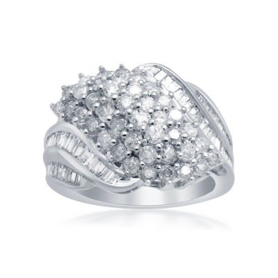 2CT. T.W. Diamond 10K White Gold Ring