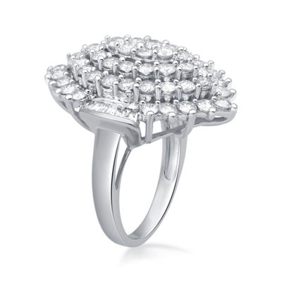 3 CT. T.W. Diamond 10K White Gold Ring