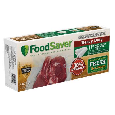 "FoodSaver® GameSaver® 2-pk. 11""x12' Heavy-Duty Heat-Seal Gallon Rolls"