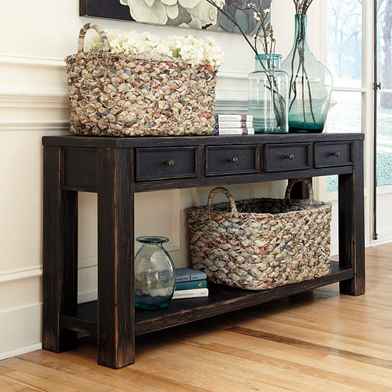 Foyer Table Jcpenney : Signature design by ashley gavelston sofa table jcpenney