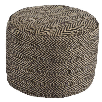 Signature Design By Ashley Chevron Pouf Ottoman