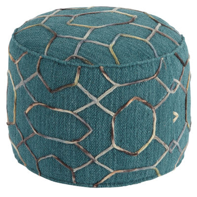 Signature Design By Ashley Geometric Pouf Ottoman
