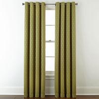 JCPenney deals on Liz Claiborne Luna Lined Textured Blackout Curtain Panel