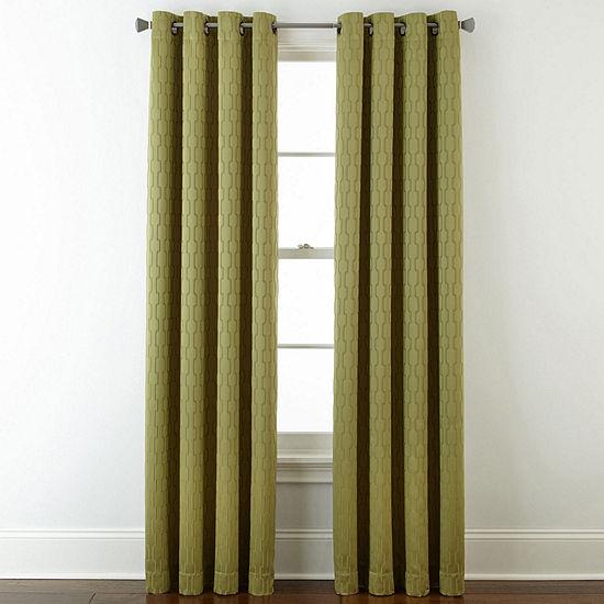 Liz Claiborne Blackout Grommet-Top Single Curtain Panel