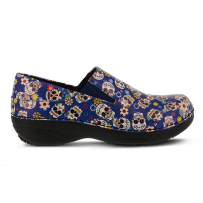 Spring Step Professionals Womens Ferrara Slip-On Shoes Elastic Closed Toe