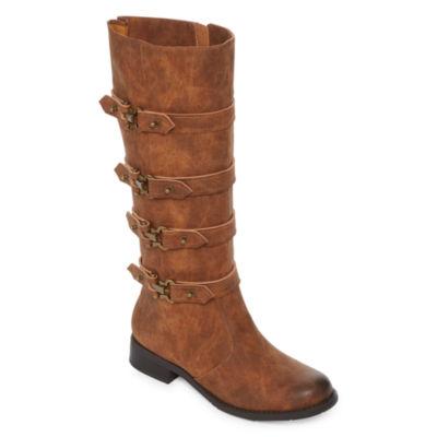 2 Lips Too Joe Womens Riding Boots Wide Calf/ Wide Width