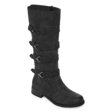 2 Lips Too Joe Womens Riding Boots Wide