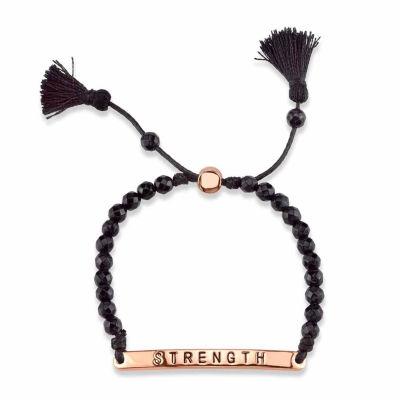 Footnotes Black Bolo Bracelet