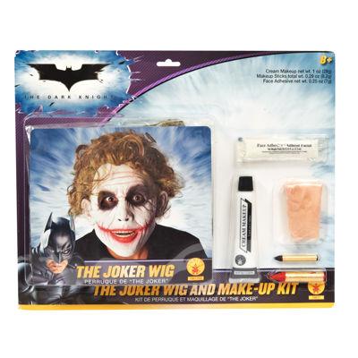 Batman Dark Knight - Deluxe Joker Wig / Makeup Accessory Kit (Adult) - One-Size