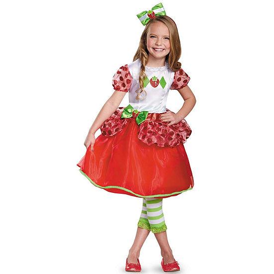Girls Strawberry Shortcake Deluxe Child Costume