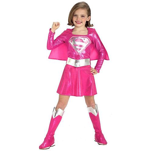 Pink Supergirl Toddler/Child Costume - Toddler 2-4T