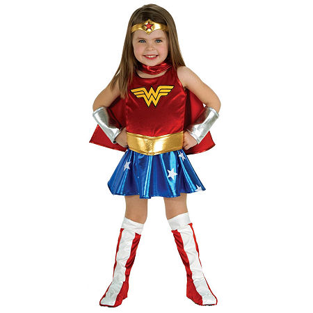 Wonder Woman Toddler Costume, 2t-4t , Red