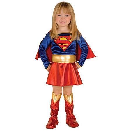 Supergirl Toddler Costume - Toddler 2-4T, 2t-4t , Blue