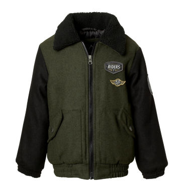 Wool Bomber Jacket- Boys Big Kid