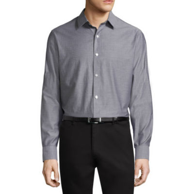 Claiborne Long Sleeve Gingham Button-Front Shirt