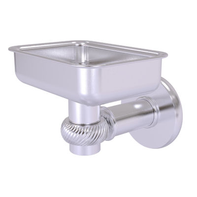 Allied Brass Continental Collection Wall Mounted Soap Dish Holder with Twist Accents