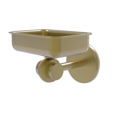 Allied Brass Satellite Orbit Two Collection Wall Mounted Soap Dish with Twisted Accents