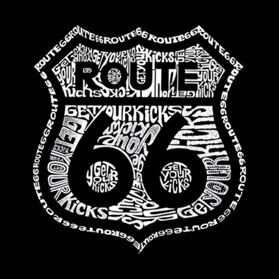 Los Angeles Pop Art Get Your Kicks On Route 66 Graphic T-Shirt