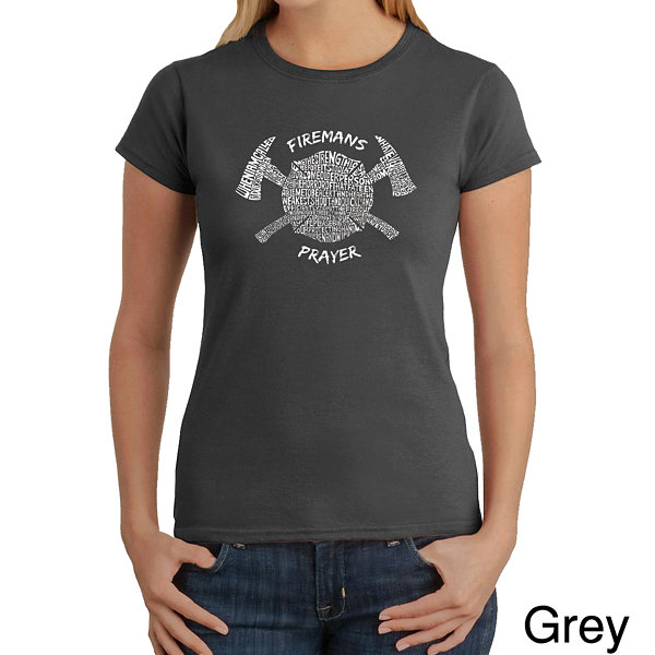 Los Angeles Pop Art Fireman's Prayer Graphic T-Shirt