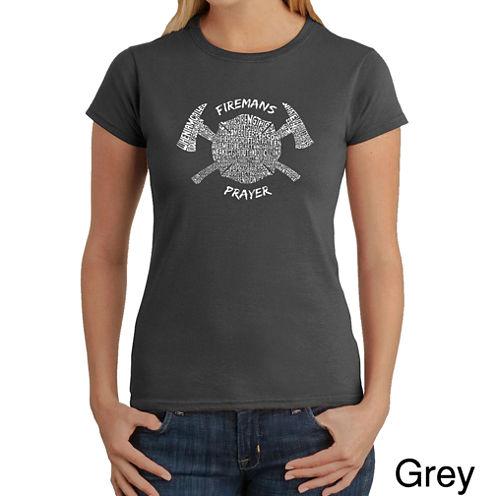 Los Angeles Pop Art Fireman'S Prayer Graphic T-Shirt