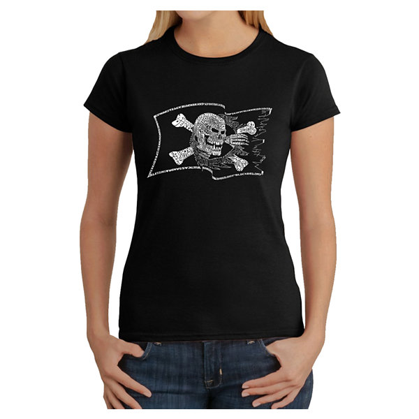 Los Angeles Pop Art Famous Pirate Captains And Ships Graphic T-Shirt