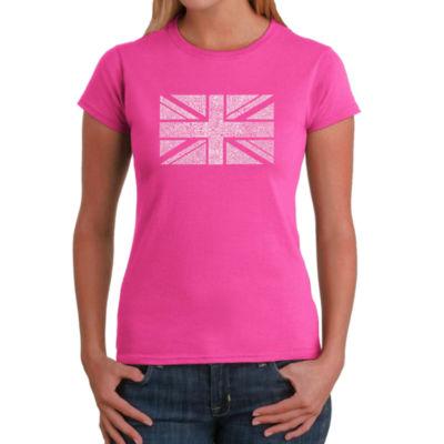 Los Angeles Pop Art Union Jack Graphic T-Shirt