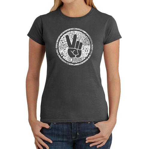 Los Angeles Pop Art Make Love Not War Graphic T-Shirt