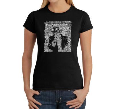 Los Angeles Pop Art Uncle Sam Graphic T-Shirt