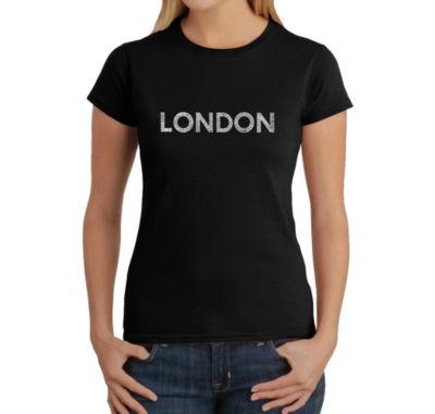 Los Angeles Pop Art London Neighborhoods Graphic T-Shirt