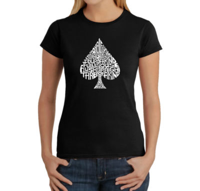 Los Angeles Pop Art Order Of Winning Poker Hands Graphic T-Shirt
