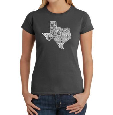 Los Angeles Pop Art The Great State Of Texas Graphic T-Shirt
