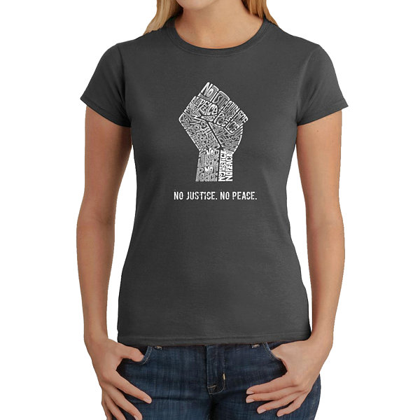 Los Angeles Pop Art No Justice; No Peace Graphic T-Shirt