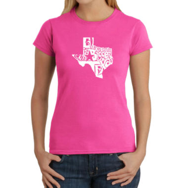 Los Angeles Pop Art Everything Is Bigger In TexasGraphic T-Shirt