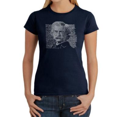 Los Angeles Pop Art Mark Twain Graphic T-Shirt