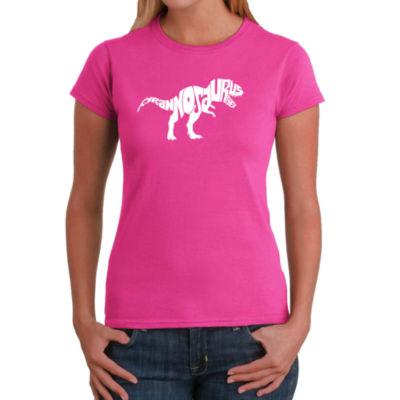 Los Angeles Pop Art Tyrannosaurus Rex Graphic T-Shirt