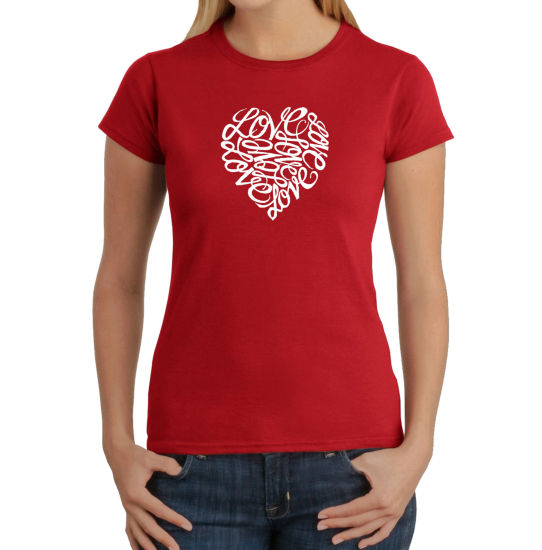 Los Angeles Pop Art Love Graphic T-Shirt
