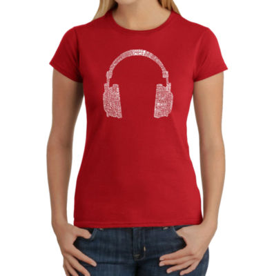 Los Angeles Pop Art 63 Different Genres Of Music Graphic T-Shirt