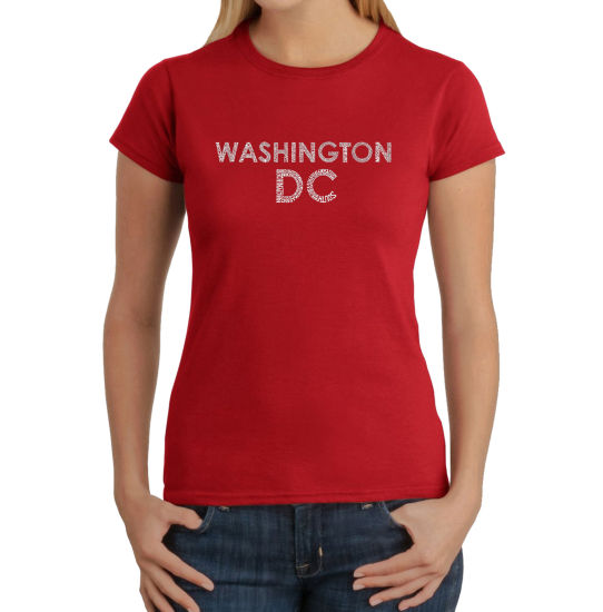 Los Angeles Pop Art Washington Dc Neighborhoods Graphic T-Shirt