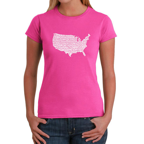 Los Angeles Pop Art The Star Spangled Banner Graphic T-Shirt