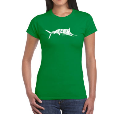 Los Angeles Pop Art Marlin - Gone Fishing Graphic T-Shirt