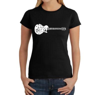 Los Angeles Pop Art Don'T Stop Believin' Graphic T-Shirt