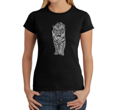 Los Angeles Pop Art Tiger Graphic T-Shirt