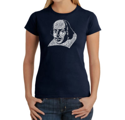 Los Angeles Pop Art The Titles Of All Of William Shakespeare's Comedies & Tragedies Graphic T-Shirt