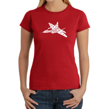 Los Angeles Pop Art Fighter Jet - Need For Speed Graphic T-Shirt