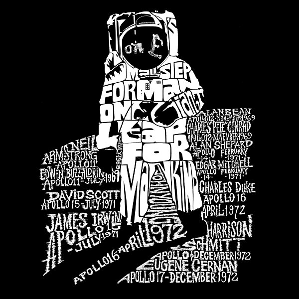 Los Angeles Pop Art Astronaut Graphic T-Shirt