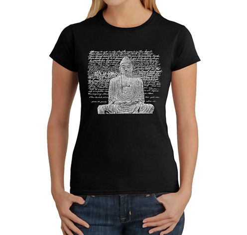 Los Angeles Pop Art Zen Buddha Graphic T-Shirt