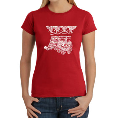 Los Angeles Pop Art King Of Spades Graphic T-Shirt