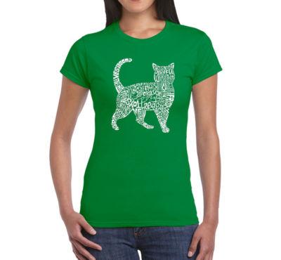 Los Angeles Pop Art Cat Graphic T-Shirt